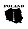 symbol of poland and maps vector image vector image