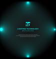 technology blue lighting glow effect vector image vector image