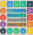 Toothbrush icon sign Set of twenty colored flat vector image