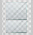 transparent glass banner frame vector image vector image