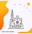 travel christ church windhoek poster template vector image