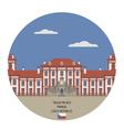 Troja Palace Prague vector image