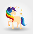 unicorn icon rainbow mane vector image vector image
