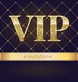 vip premium invitation card poster or flyer vector image