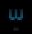 W letter monogram white abstract digital music