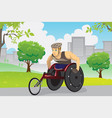 wheelchair athlete vector image