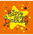 Beautiful happy birthday invitation cards vector image