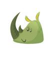 cartoon simple rhino head vector image