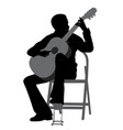 young man playing acoustic guitar vector image