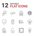 12 secure icons vector image vector image