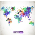 Abstract triangle world map with explosion vector image vector image