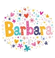 Barbara name design vector image vector image