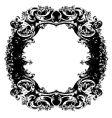 baroque mirror vector image vector image
