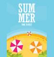 beach flat design background vector image