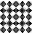 black and white seamless abstract ring pattern vector image vector image