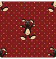 Black Rabbit Red Polka dot Background vector image vector image