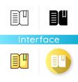 book reader app icon vector image vector image