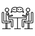 business negotiation icon outline style vector image vector image