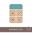 calculator icon finances sign vector image vector image