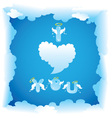 Card for Valentines Day with funny angels letters vector image vector image