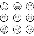 cartoon emoticons set vector image vector image