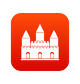 castle tower icon digital red vector image vector image