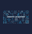 chemistry lab equipment horizontal linear vector image