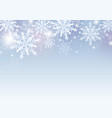 christmas and winter background design vector image vector image