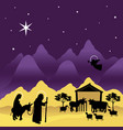 christmas nativity mary and joseph 3 vector image