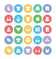 clothes icons 1 vector image