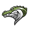 crocodile head side vector image