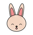 cute scribble rabbit cartoon vector image vector image