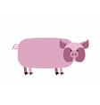 Fat pig on a white background Farm animal vector image vector image