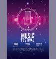 festival music flyer vector image vector image