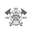 fire department monochrome emblem vector image vector image
