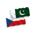 flags czech republic and pakistan on a white vector image vector image