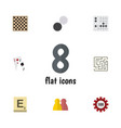 flat icon entertainment set of labyrinth gomoku vector image vector image