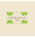 Frame With Leavs in Corners Organic Product Logo vector image vector image