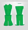green and white basketball uniform vector image