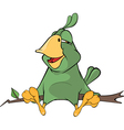 Green parrot cartoon vector image