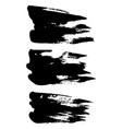 grunge ink brush strokes set freehand black vector image