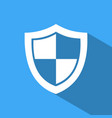 high security shield icon with shade on a blue vector image vector image