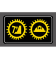 industrial signal vector image vector image