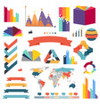 infographs infographic charts elements collection vector image vector image