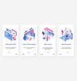 isometric cyber security network technology ux ui vector image vector image