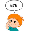 kid eye vector image