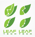 leaf tech vector image vector image