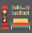 Living Room Interior Design vector image vector image