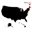map us state maine vector image vector image