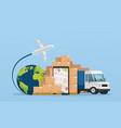online service postal logistic service or courier vector image vector image